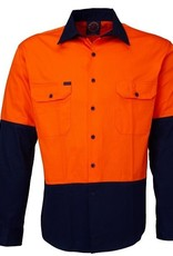 Ritemate Ritemate RM1050 Cotton Twill Hi Vis LS Shirt