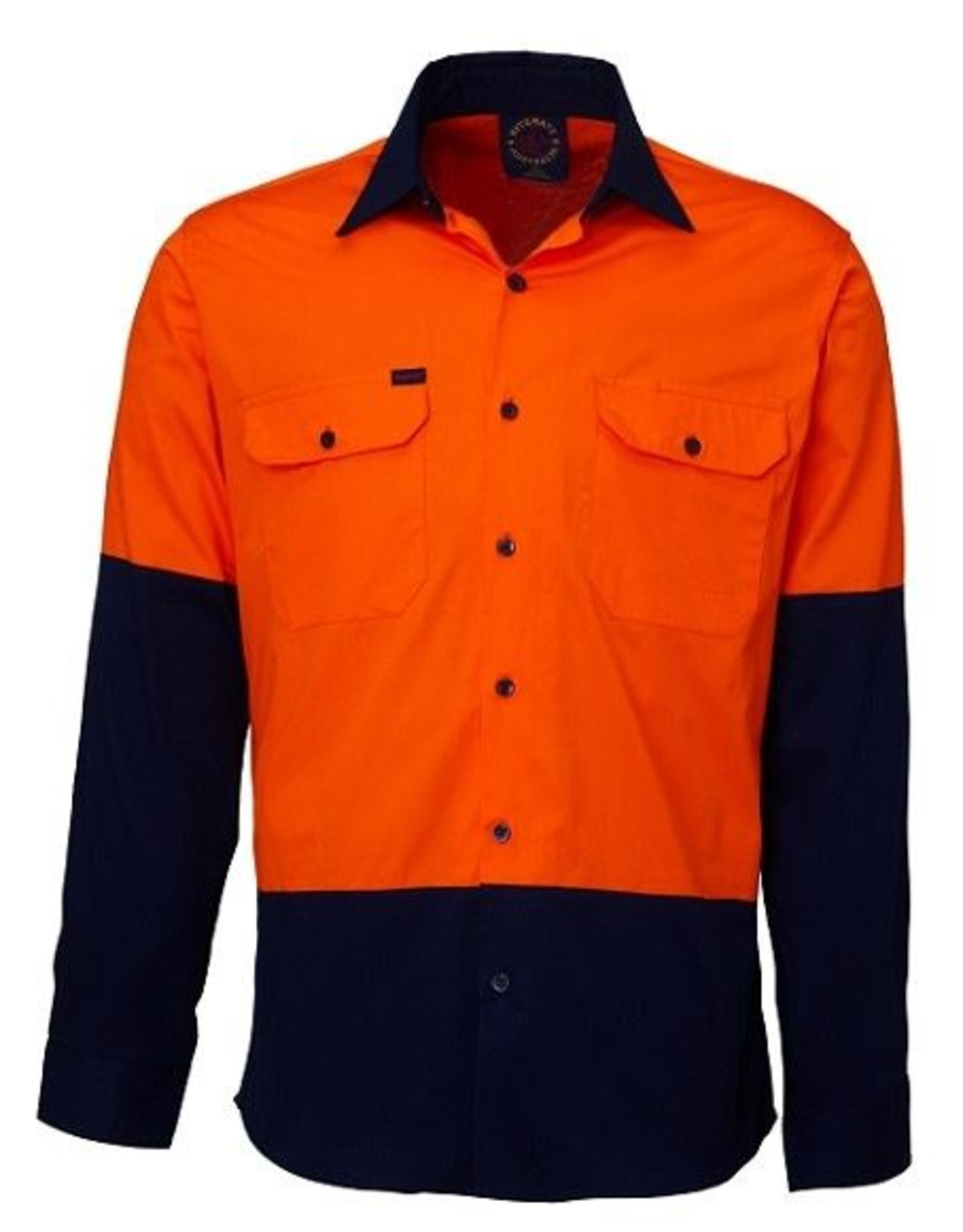 Ritemate Ritemate RM107V2 2 Tone Light Weight Vented Hi Vis LS Shirt
