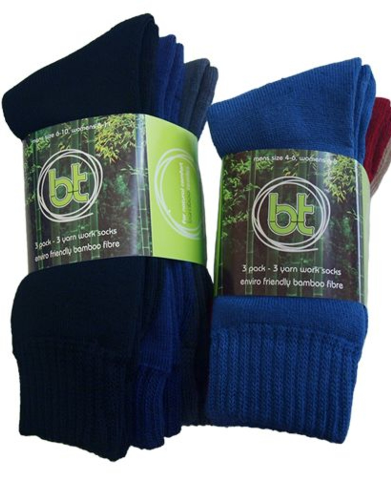 Bamboo Textiles BT Bamboo 3 Yarn Work Socks 3 Pack