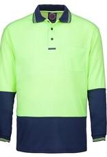 Ritemate Ritemate RM2346 2 Tone Poly/Cotton Hi Vis LS Polo Shirt
