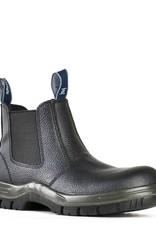 Bata Bata Hercules Elastic Side Black Steel Cap Boot