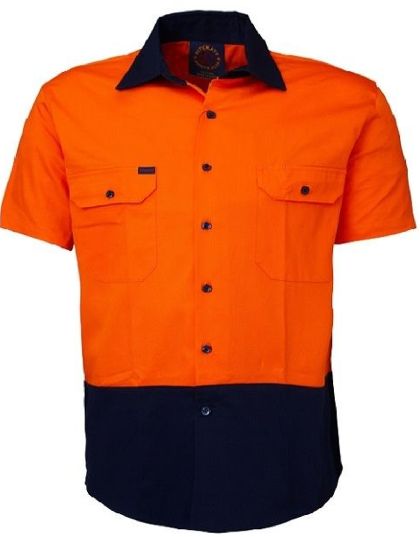 Ritemate Ritemate RM1050S Cotton Twill Hi Vis SS Shirt