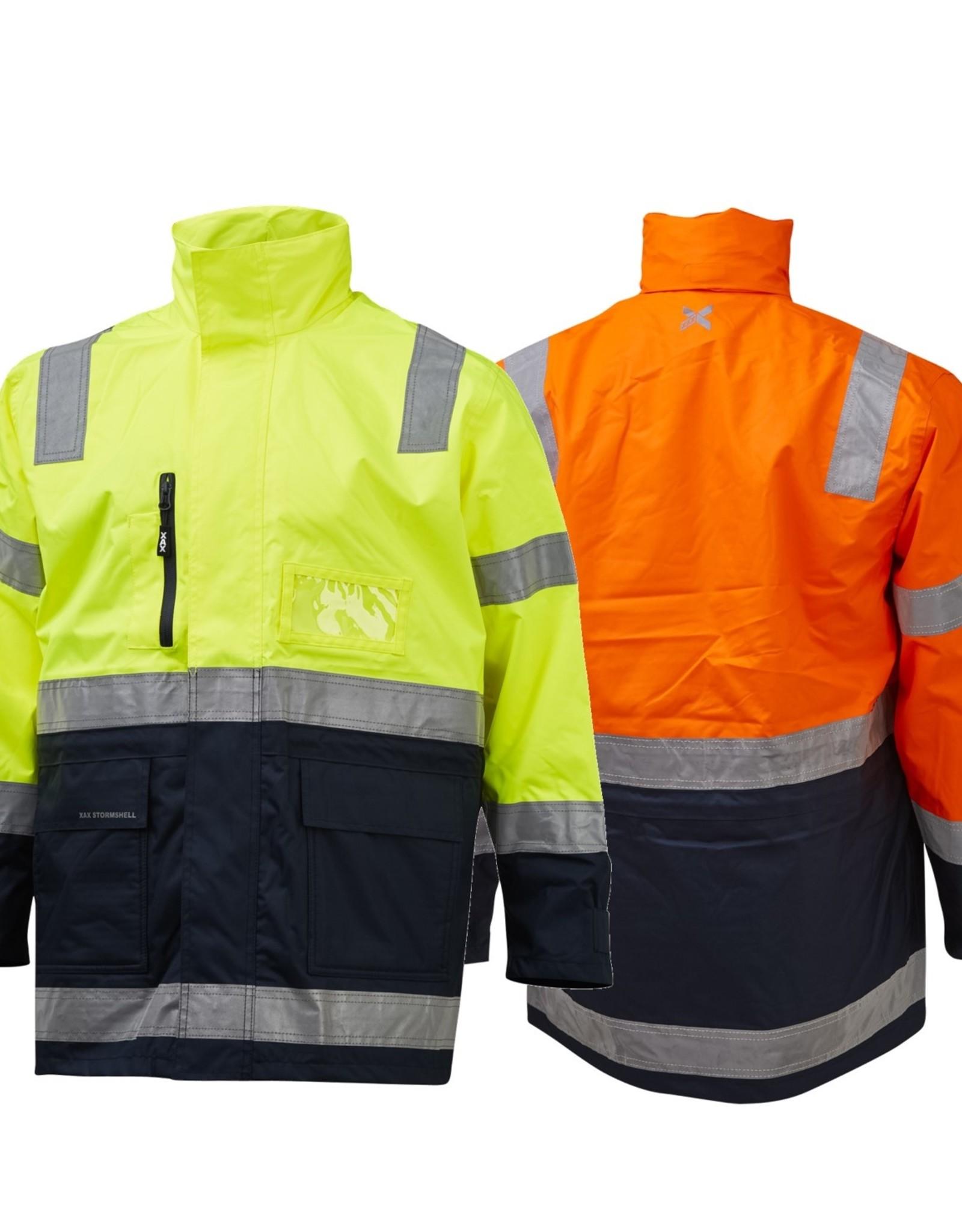XAX XAX Stormshell 3/4 Length Waterproof Taped Hi Vis Jacket