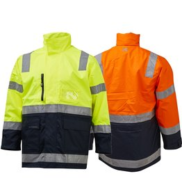 XAX XAX Stormshell 3/4 Length Waterproof Taped Hi Vis Jacket