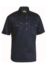 Bisley Bisley Cotton Drill Closed Front SS Work Shirt