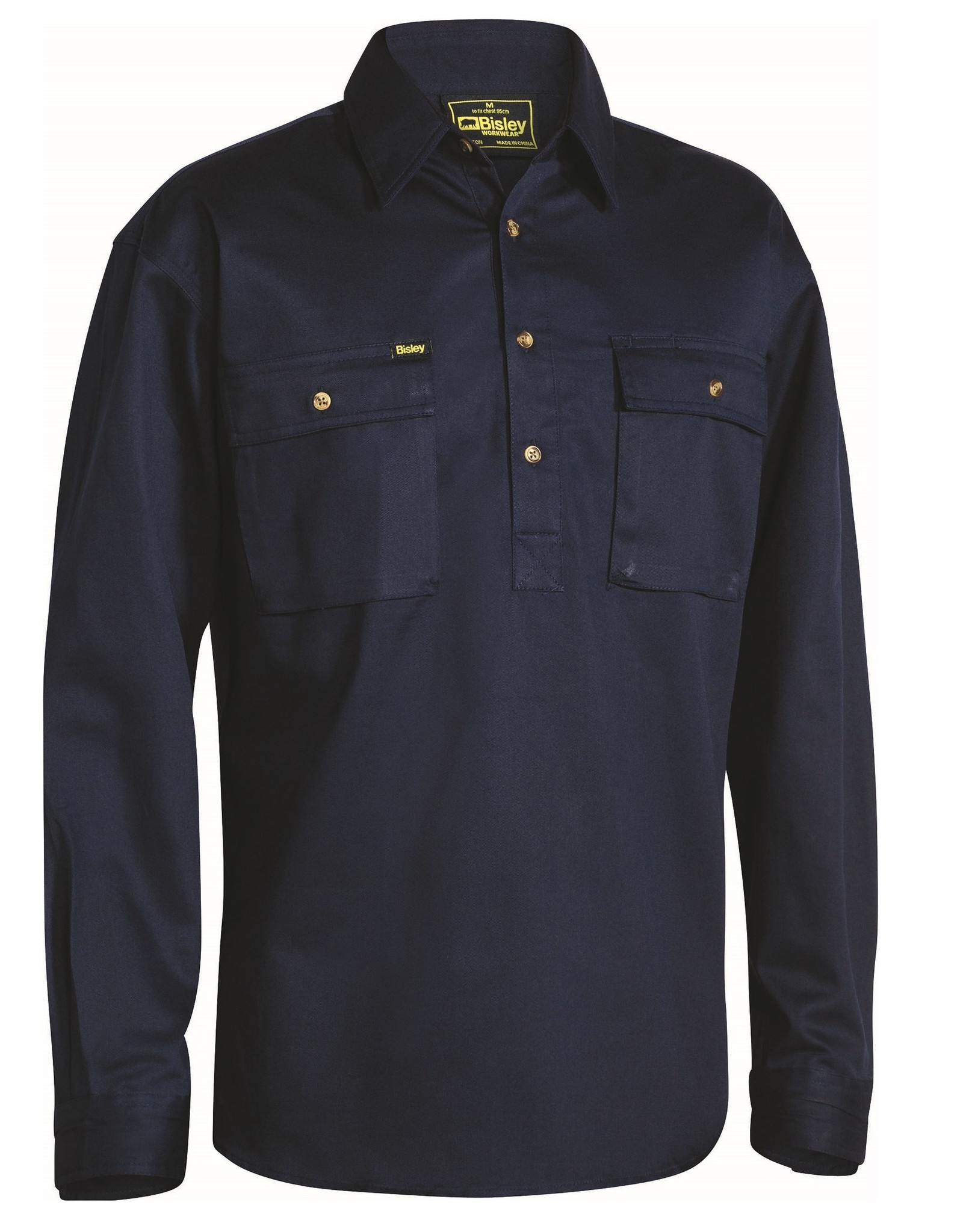Bisley Bisley Cotton Drill Closed Front LS Work Shirt