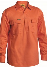 Bisley Bisley BSC6433 Cotton Drill Closed Front LS Work Shirt