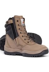 Mongrel Mongrel 'P' Series High Leg Zip Sided Stone Steel Cap Boot