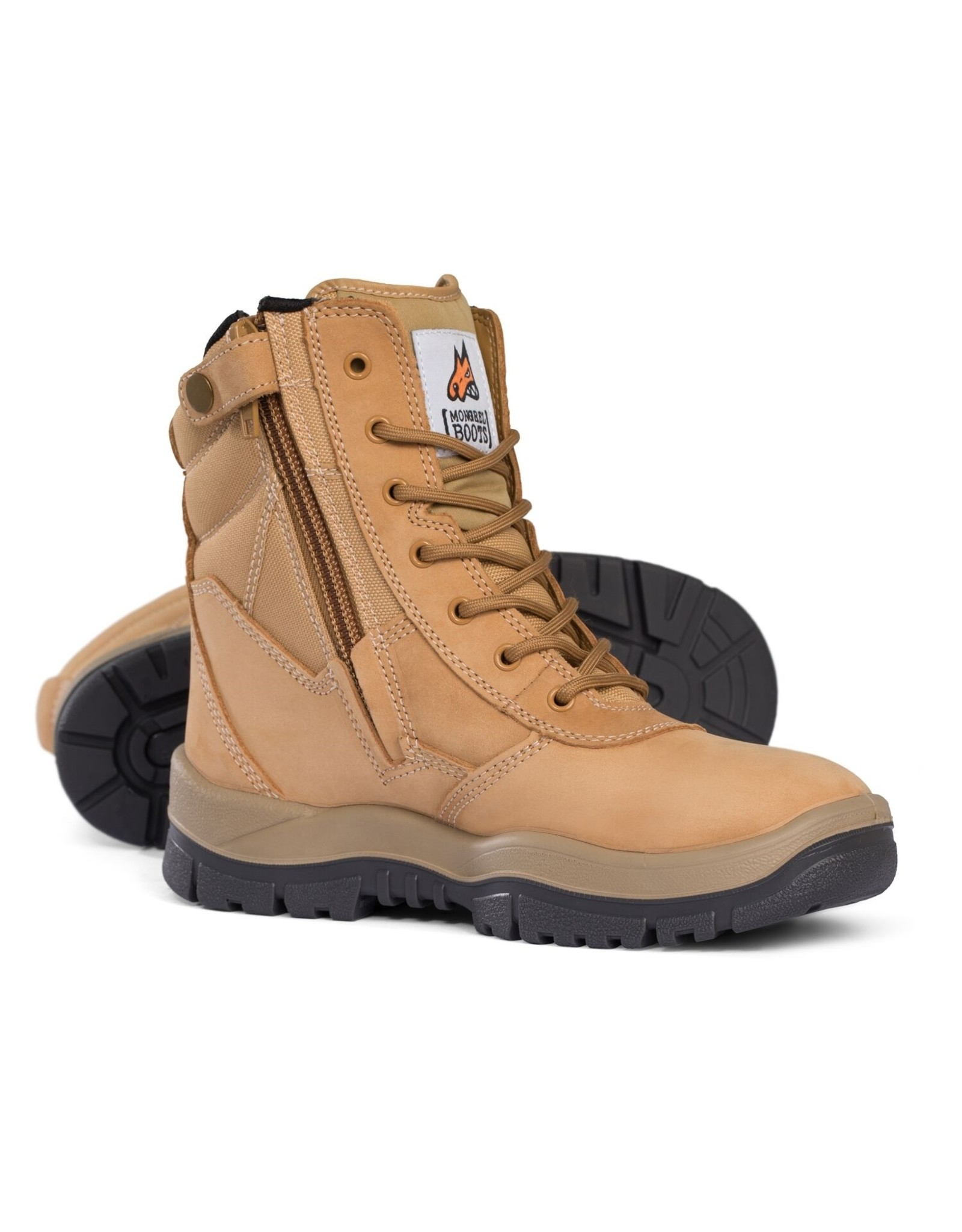 Mongrel Mongrel 'P' Series High Leg Zip Sided Wheat Steel Cap Boot