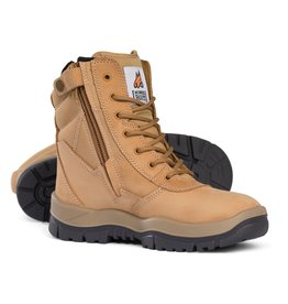Mongrel Mongrel 'P' Series High Leg Zip Sided Wheat Steel Cap Boot