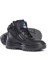 Mongrel Mongrel 261020 'P' Series Zip Sided Black Steel Cap Boot