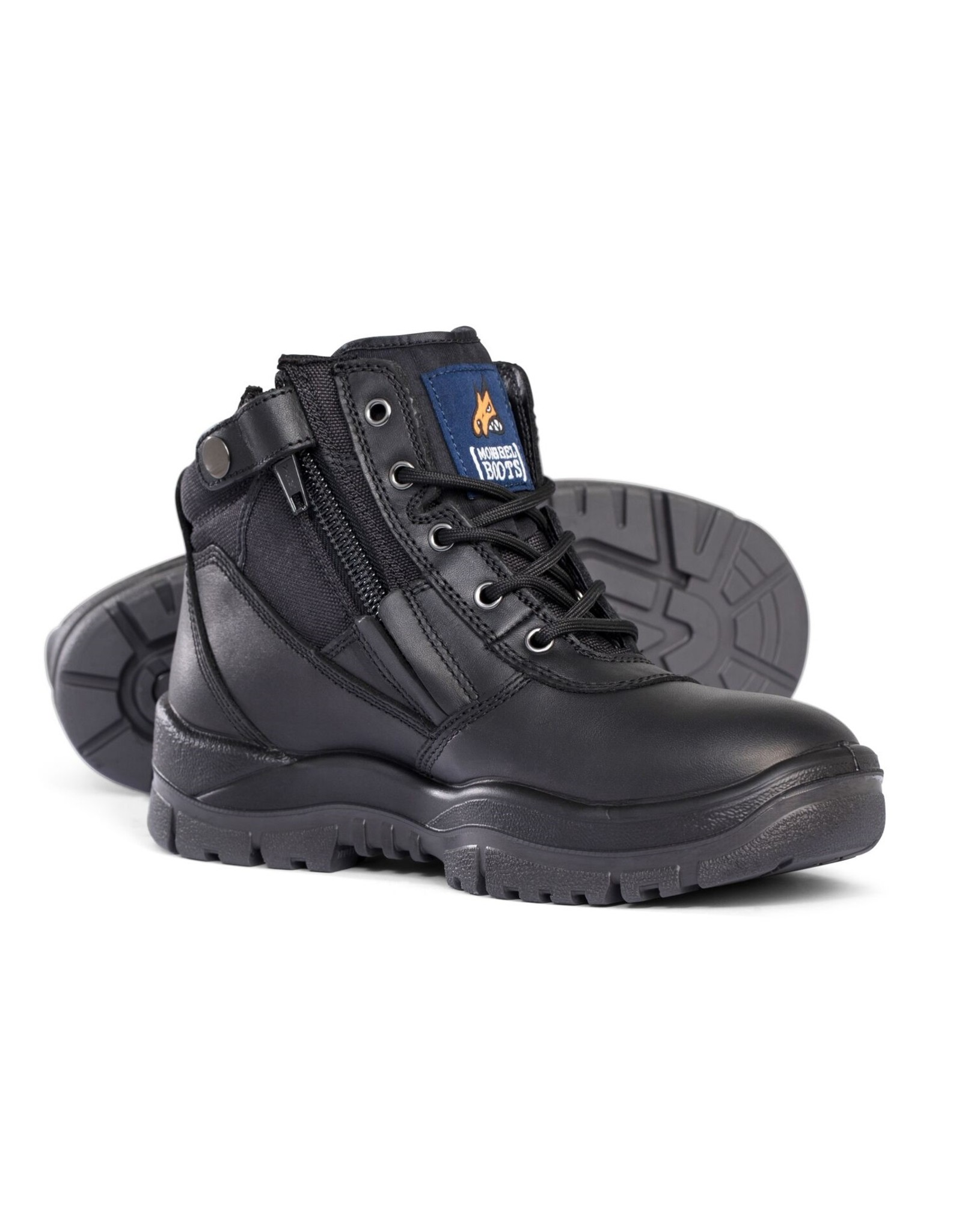 Mongrel Mongrel 'P' Series Zip Sided Black Steel Cap Boot