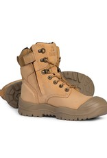 Mongrel Mongrel 'R' Series Wheat High Ankle Zip Sider Safety Boot With Scuff Cap