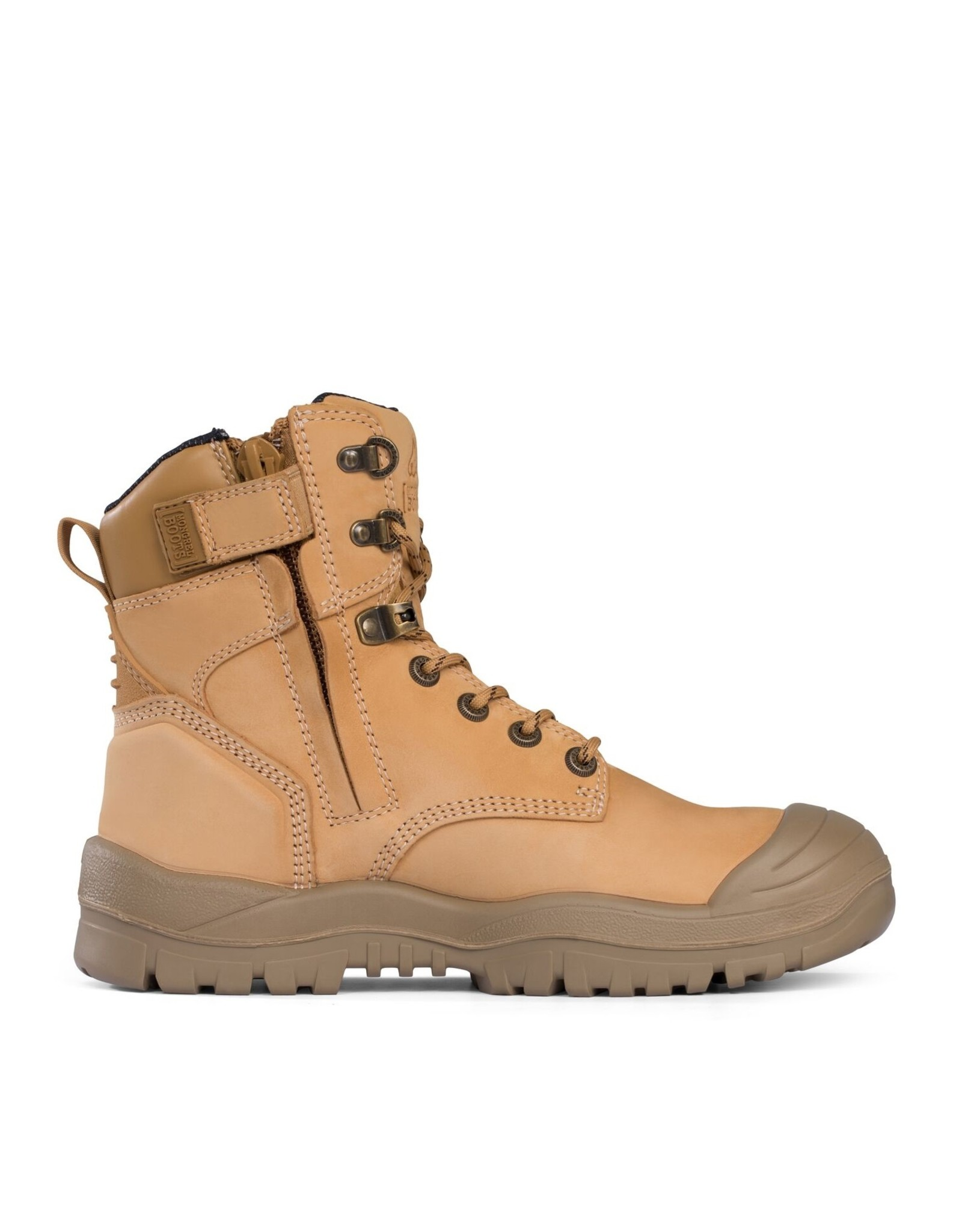 Mongrel Mongrel 561050 'R' Series Wheat High Ankle Zip Sider Safety Boot With Scuff Cap