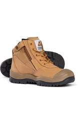 Mongrel Mongrel  461050 'SC' Series Zip Side Wheat Steel Cap Boots w/Scuff Cap