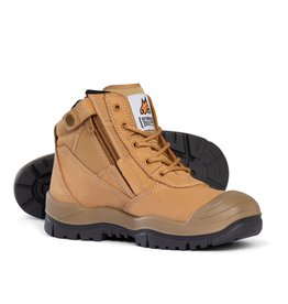 Mongrel Mongrel 'SC' Series Zip Side Wheat Steel Cap Boots w/Scuff Cap