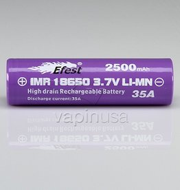 Efest Battery | 18650, 2500mAh, 35A | Button Top