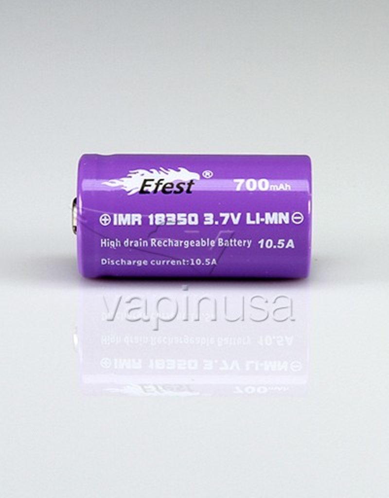 Efest Battery   18350, 700mAh, 10.5A   Button Top