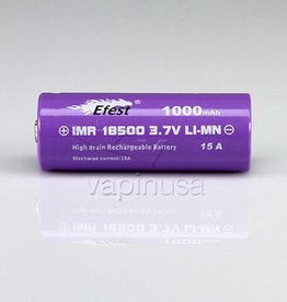 Efest Battery | 18500, 1000mAh, 15A | Button Top