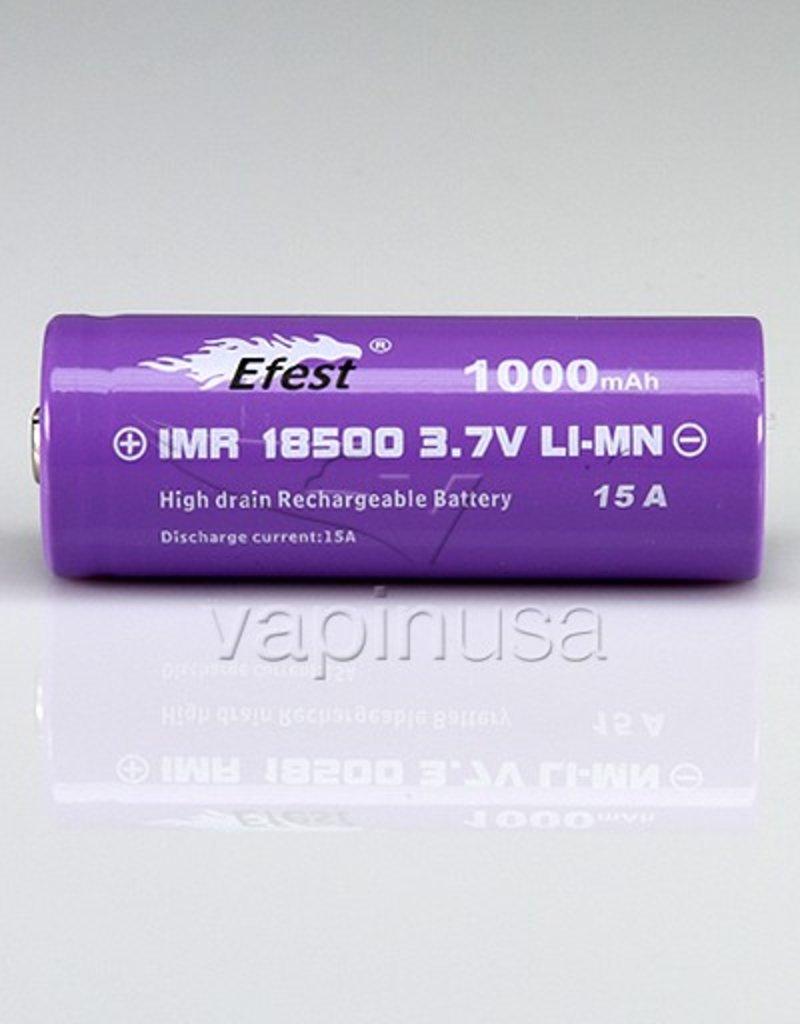 Efest Battery | 18500, 1000mAh, 15A | Button Top
