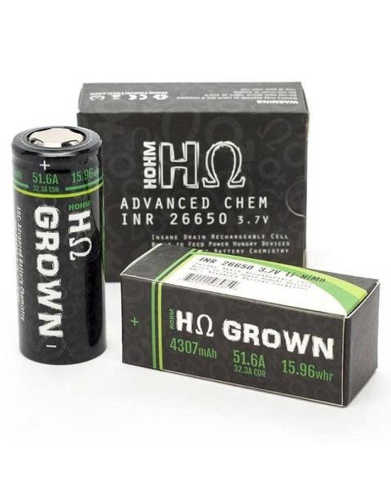 Hohm Tech Hohm Grown 26650 Battery   4307mAh 51.6A