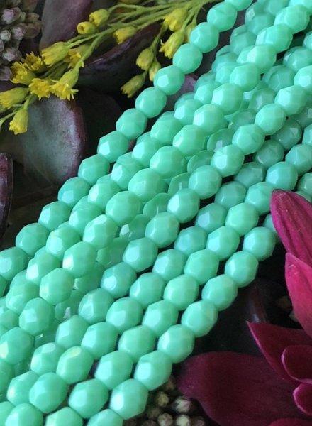 Firepolish 4mm : Green Turquoise