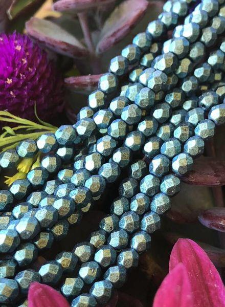 Firepolish 4mm : Polychrome- Aqua Teal