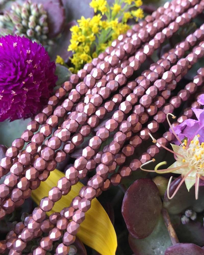 Firepolish 3mm : Saturated Metallic- Blooming Dahlia