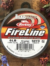 6 LB FIRELINE CRYSTAL .008 IN/.15MM DIA 50 YRD