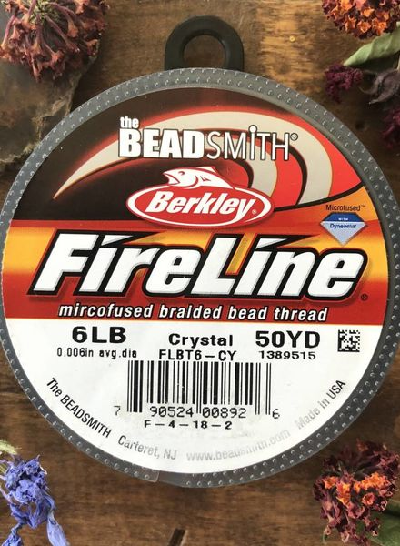 6 LB FIRELINE CRYSTAL .006 IN/.15MM DIA 50 YRD