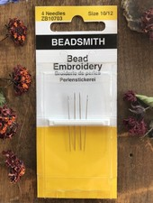 NEEDLES BEAD EMBROIDERY 4/PK