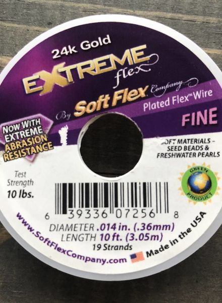 Soft Flex Soft Flex Beading Wire - 24k Gold- Fine 10ft.