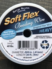 Soft Flex Soft Flex Beading Wire - Satin Silver- Heavy 30ft.