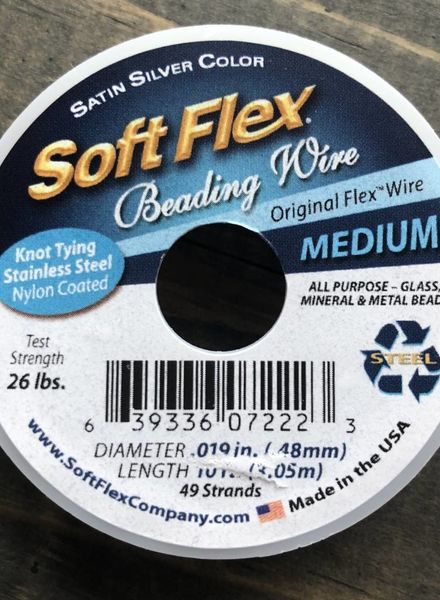 Soft Flex Soft Flex Beading Wire - Satin Silver- Medium 10ft.