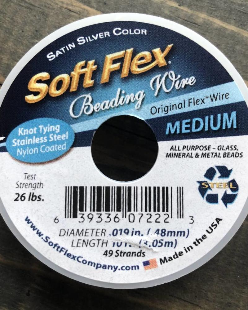 Soft Flex Soft Flex Beading Wire - Satin Silver- Medium 10ft.