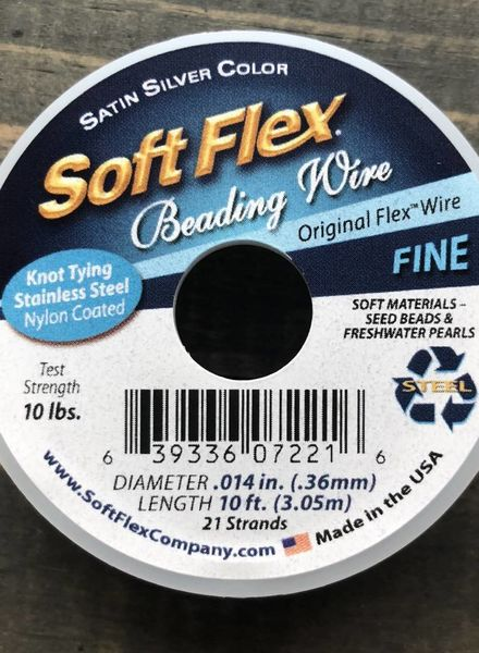 Soft Flex Soft Flex Beading Wire - Satin Silver- Fine 10ft.