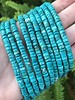 3x6mm Blue/Green Turquoise Magnesite - Heishi