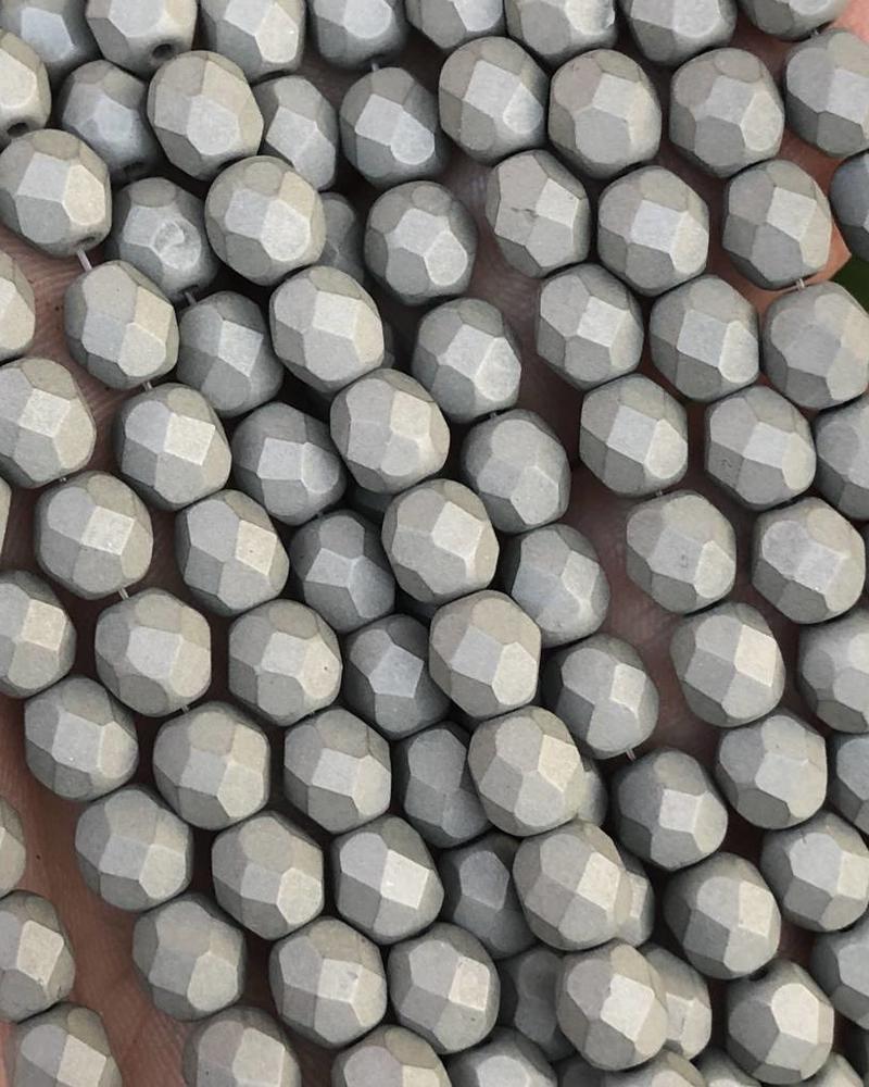 Firepolish 6mm : Saturated Gray