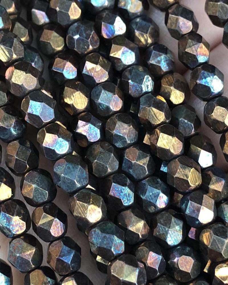 Firepolish 6mm : Oxidized Bronze Clay