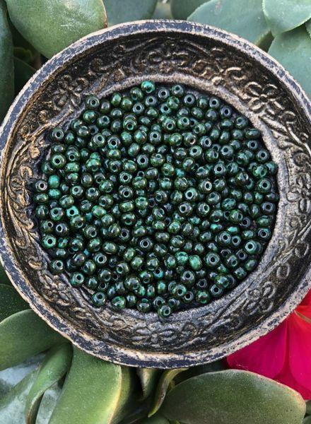 SIZE 6/0 Green Travertine #1380
