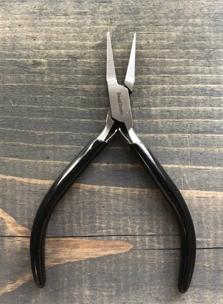 SUPER FINE FLAT NOSE WITH SPRING- Black Handle
