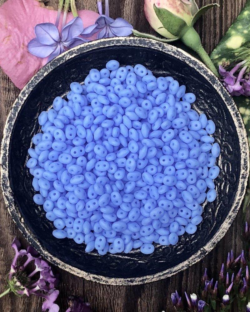 SuperDuo 2/5mm : Matte - Milky Sapphire