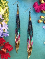 Class: Beaded Tassel Earrings