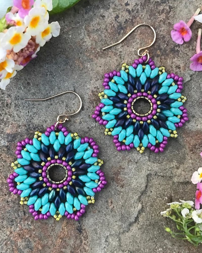 Class: Flower Earrings or Pendant June 2nd, Sunday 11:30am-2:00pm