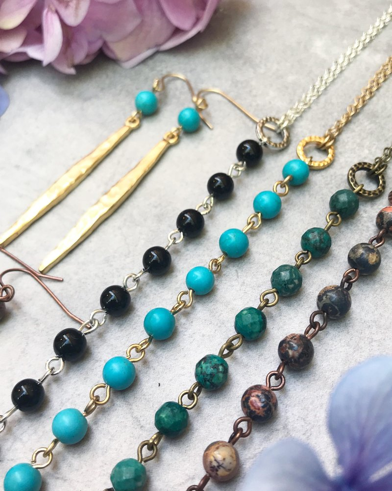 Class: Drop Necklace & Earrings June 16th, Sunday 12:00pm-2:00pm