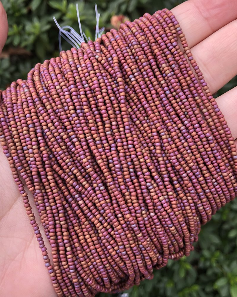 SIZE 11/0 #737 Brown Mat Rainbow