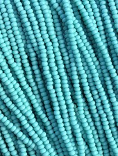 SIZE 11/0 #117m Mat Green Turquoise
