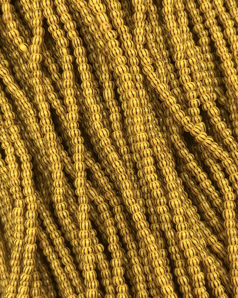 SIZE 11/0 #517 Yellow/Brown Multi Stripe