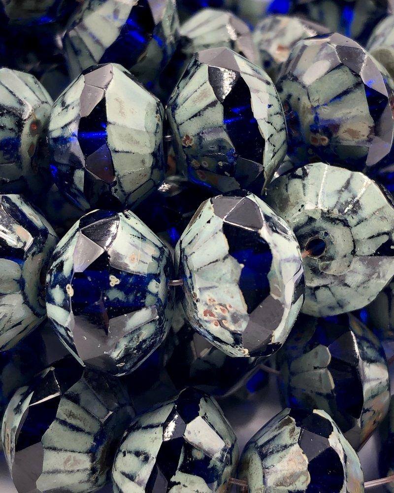 13x9mm Saucer- Cobalt