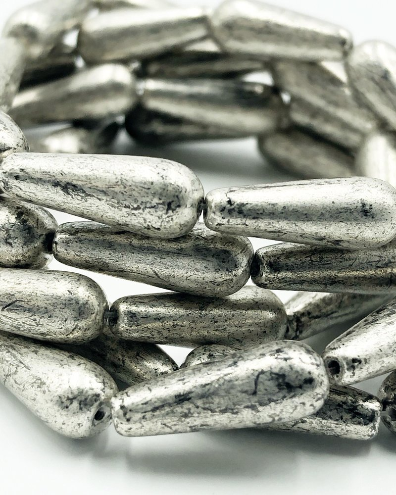 6x15mm Dangle Drop- Antique Silver